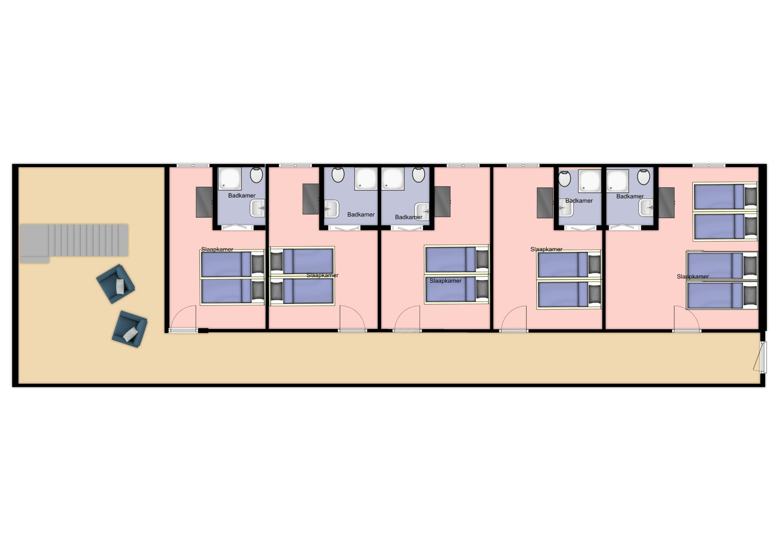 Plattegrond: eerste verdieping