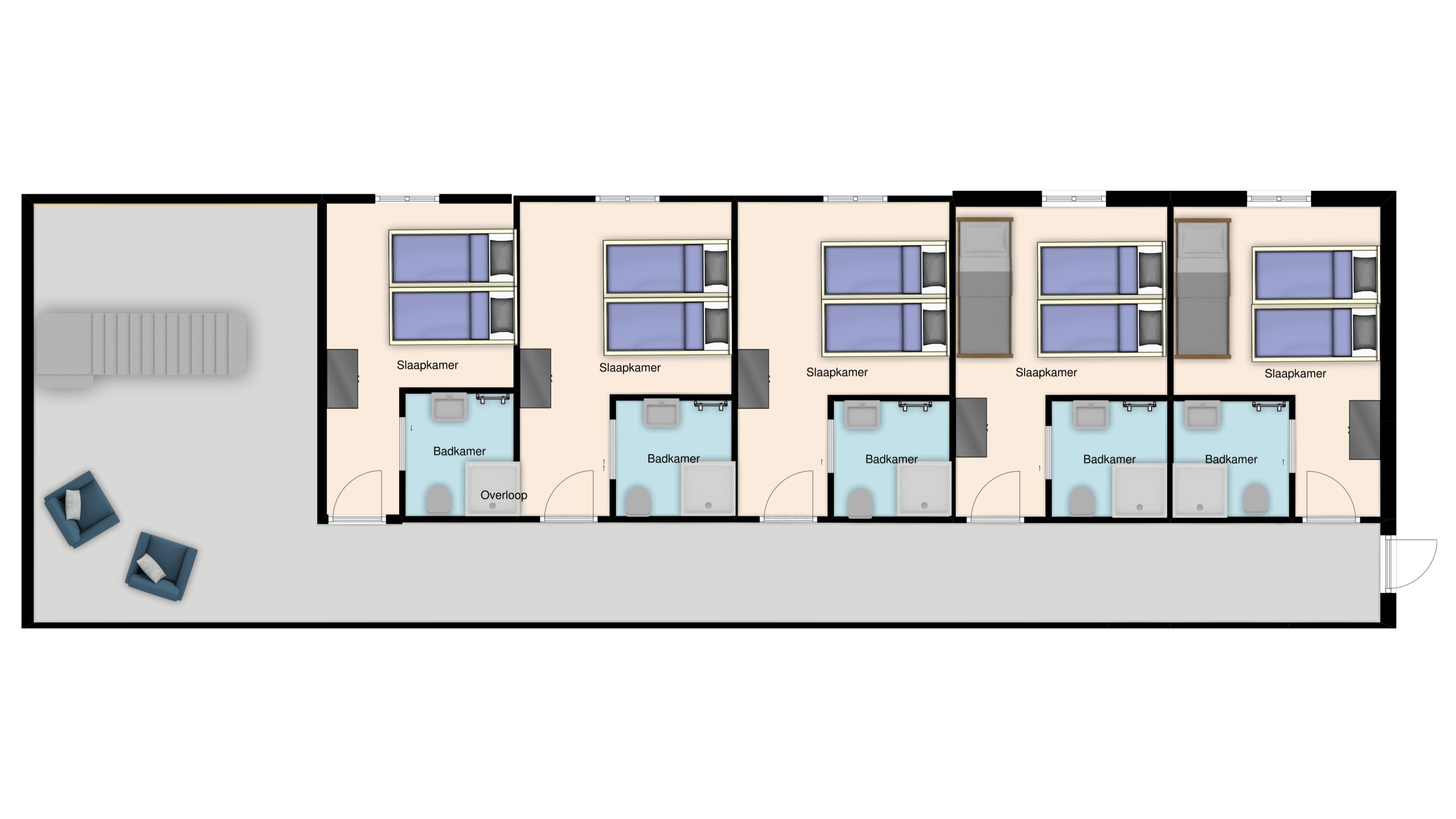 Plattegrond: Vanaf 1 mei 2020: eerste verdieping